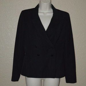 Sz 36 4 Chanel Black Wool Double Breasted Blazer